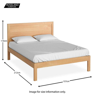 The Abbey Light Oak 5' King Size Bed Frame - size guide