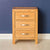 Abbey Light Oak Bedroom Set - Bedside Drawers