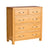 Abbey Light Oak Bedroom Set - Chest of Drawers Drawers