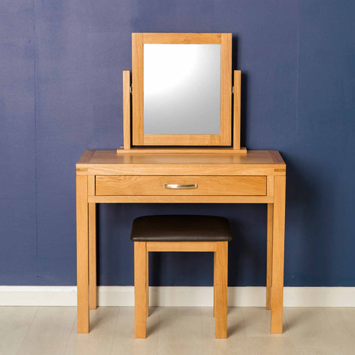 Abbey Light Oak Dressing Table Set