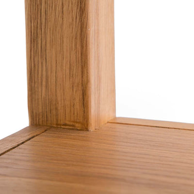 close up of the solid wood frame on the Abbey Waxed Small Side Lamp Table