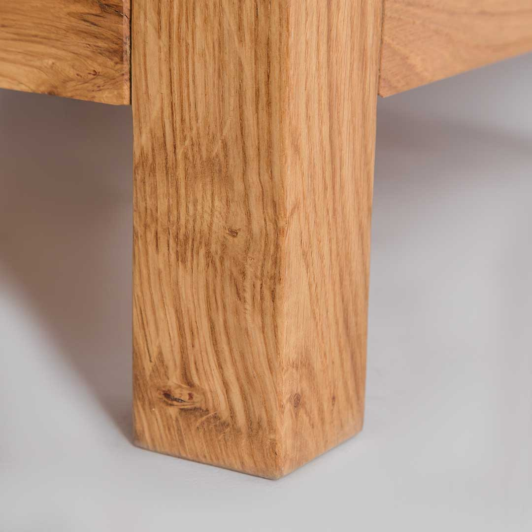 Leg of The Abbey Waxed Small Side Lamp Table