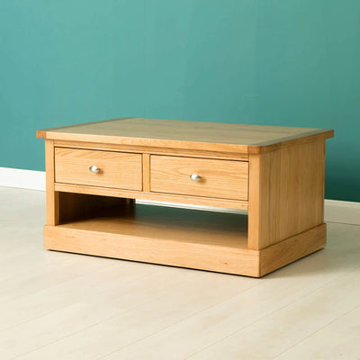 Hampshire Oak Coffee Table - Lifestyle