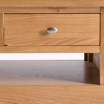 Hampshire Oak Coffee Table - Close up of Drawer front