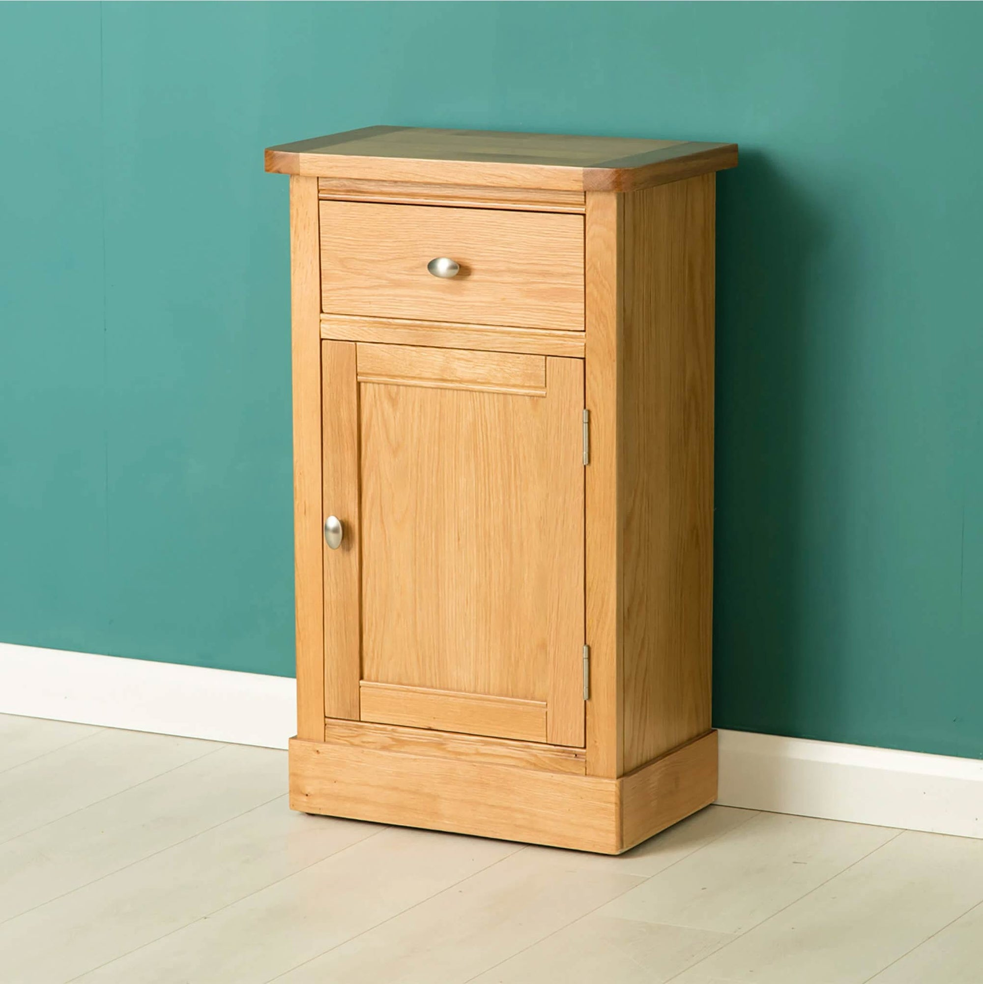 Hampshire Oak Telephone Table cupboard Unit by Roseland Furniture