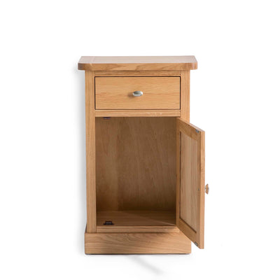 Hampshire Oak Telephone Table cupboard Unit top view