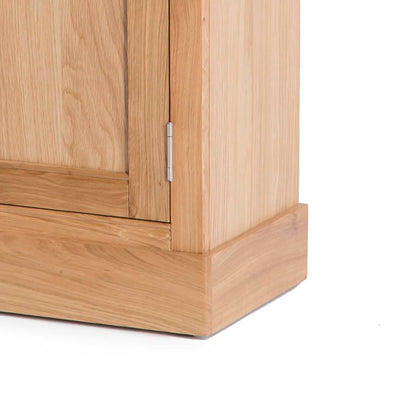 Hampshire Oak Telephone Table cupboard Unit dovetail joints on drawer
