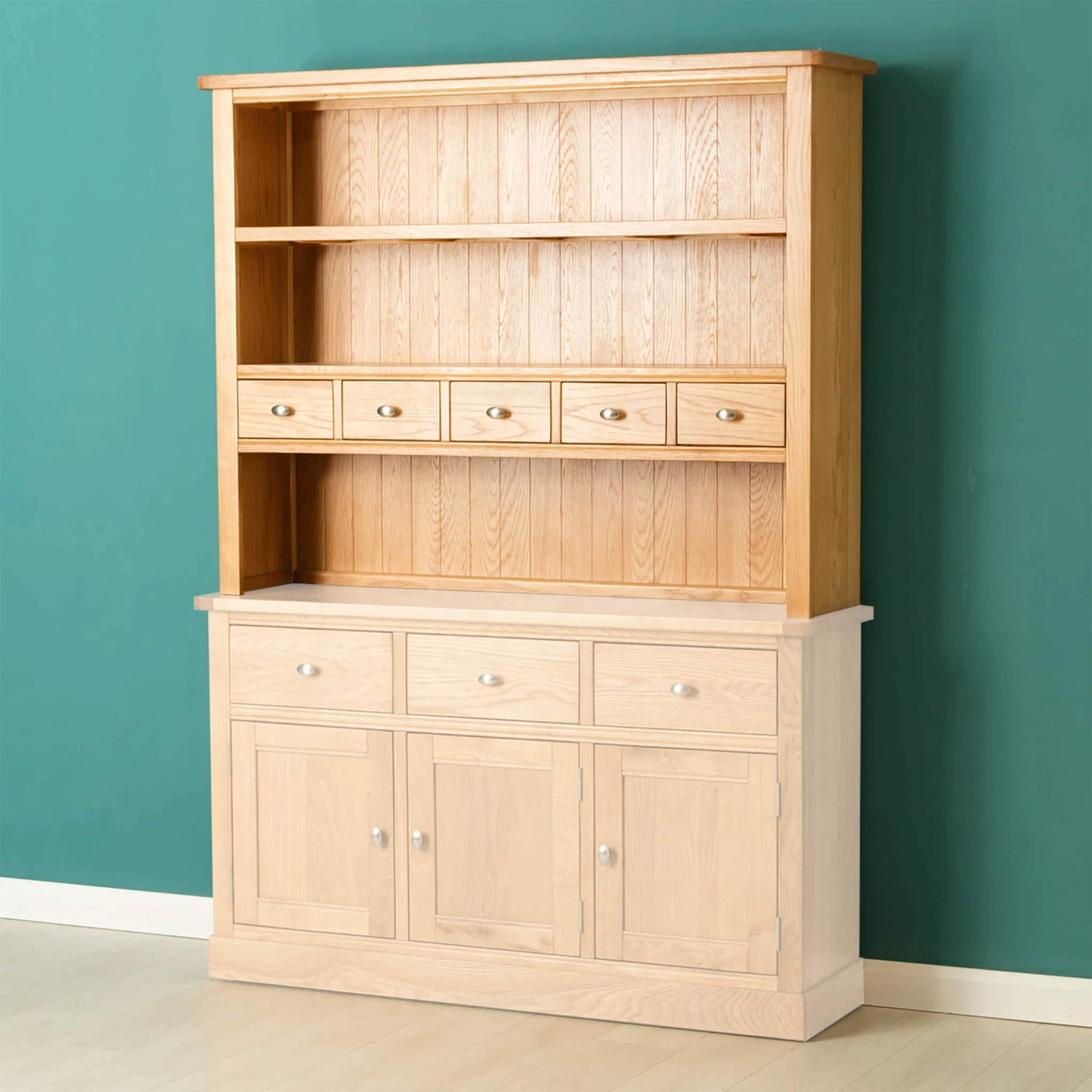 Hampshire Oak Dresser Hutch by Roseland Furniture