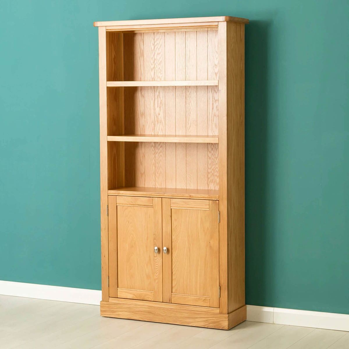 Hampshire Oak Open Display Cabinet by Roseland Furniture