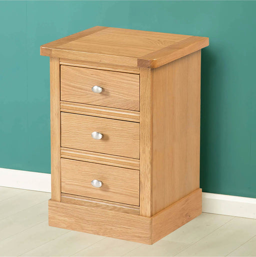 Hampshire Oak Bedside Side Table by Roseland Furniture
