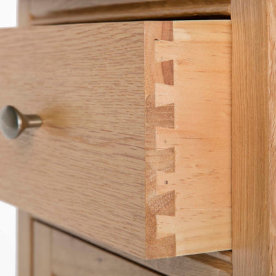 Hampshire Oak 3 over 4 Drawer Chest / Unit drawer front