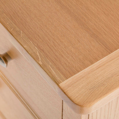 Hampshire Oak 3 over 4 Drawer Chest / Unit front corner view