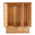 Hampshire Oak Triple Wardrobe hanging rail side fix view
