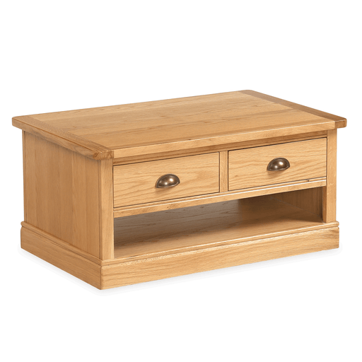 Sussex Oak Coffee Table with Drawers