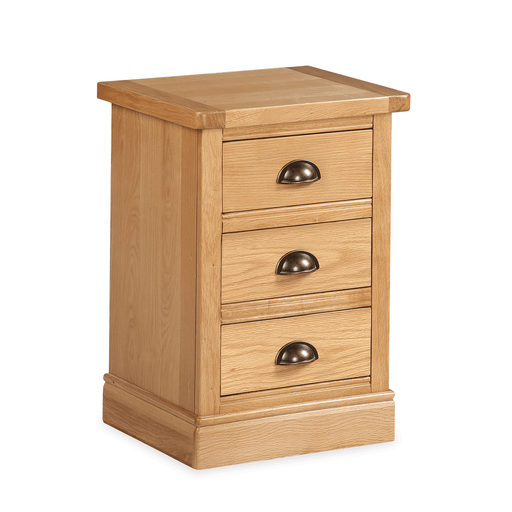 Sussex Oak 3 Drawer Bedside