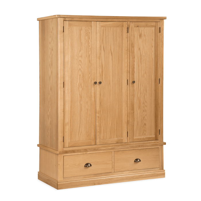 Sussex Oak Triple Wardrobe