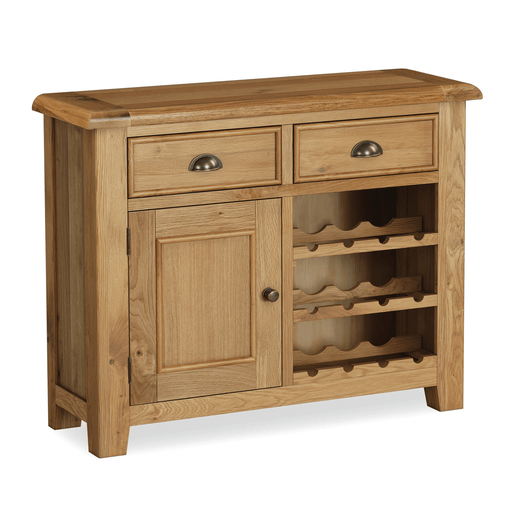 Canterbury Oak Wine Cabinet