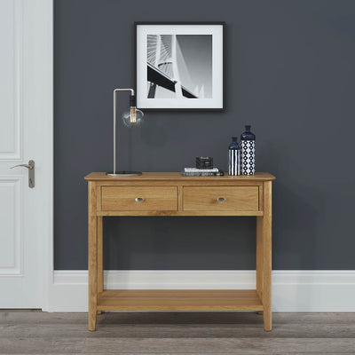 Alba Oak Console Table lifestyle view