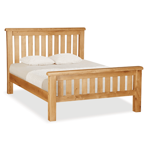 "Sidmouth Oak 4'6"" Slatted Bed"