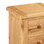 Sidmouth Oak 3 Drawer Bedside Table - Close Up of Oak Top