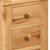 Sidmouth Oak 3 Drawer Bedside Table - Close Up of Drawers