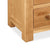 Sidmouth Oak 3 Drawer Bedside Table - Close Up of Feet