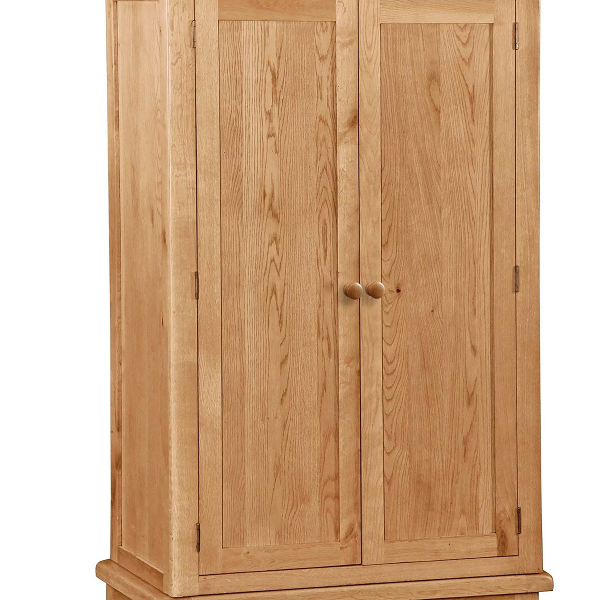 Sidmouth Oak Double Wardrobe With Drawer - Close Up of Wardrobe Doors