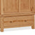 Sidmouth Oak Double Wardrobe With Drawer - Close Up of  Large Drawer