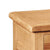 Sidmouth Lamp Table With Drawer - Close Up of Oak Top
