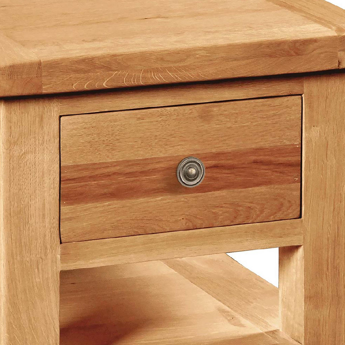 Sidmouth Lamp Table With Drawer - Close Up of Drawer Front
