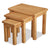 Sidmouth Oak Nest Of 3 Tables