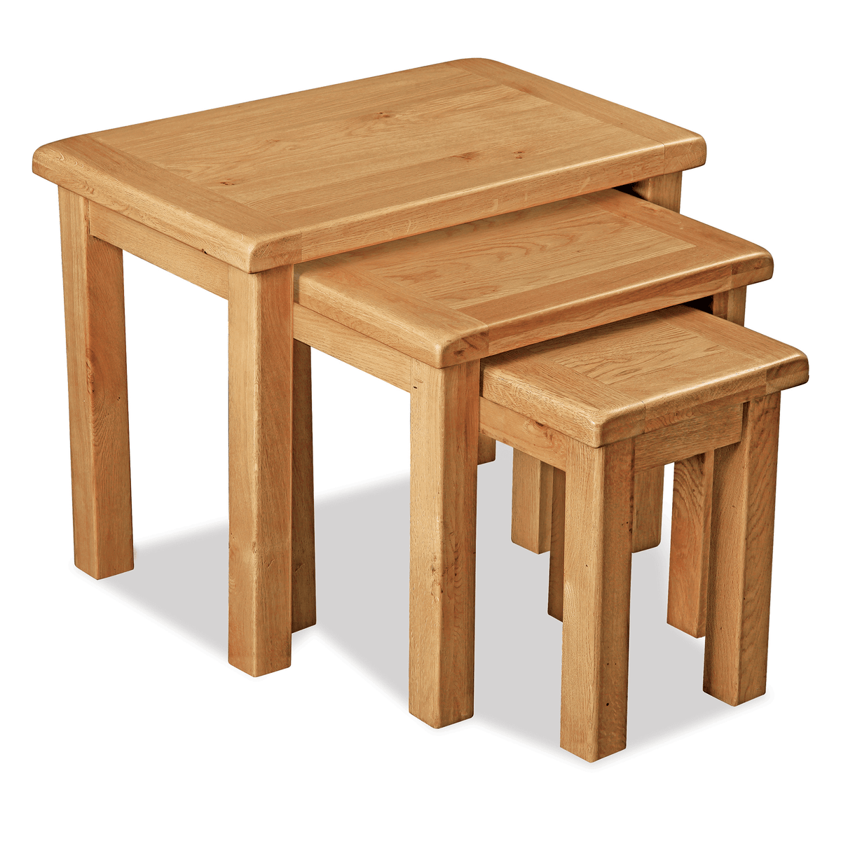 Sidmouth Oak Nest Of Tables by Roseland Furniture