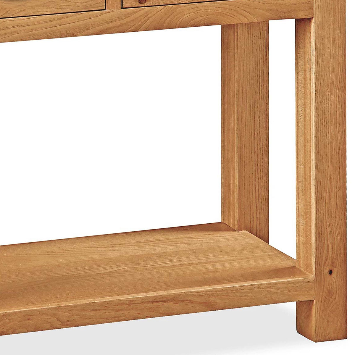 Sidmouth Oak Console Table - Close Up of Console Legs