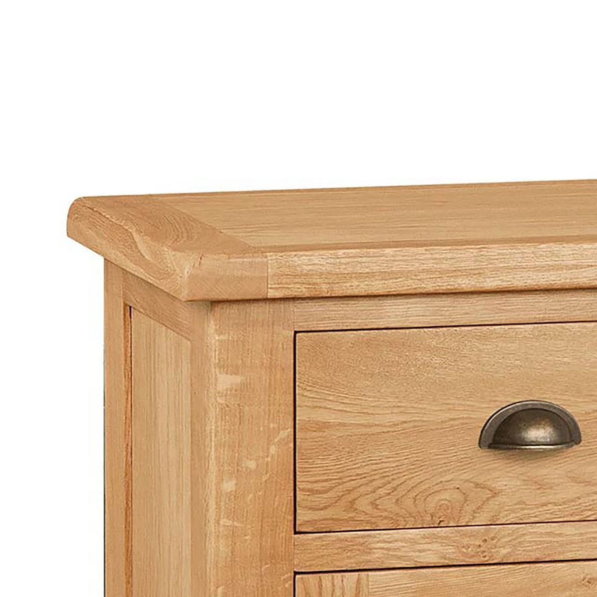 Sidmouth Oak Large Sideboard - Close Up of Oak Top of Sideboard