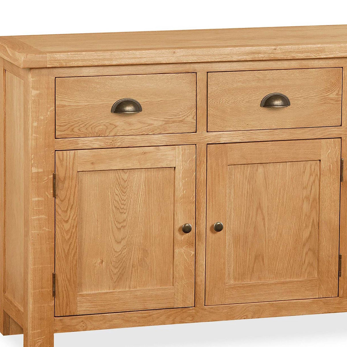 Sidmouth Oak Large Sideboard - Close Up of Double Cupboard Side