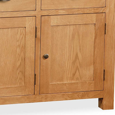 Sidmouth Oak Large Sideboard - Close Up of Single Cupboard