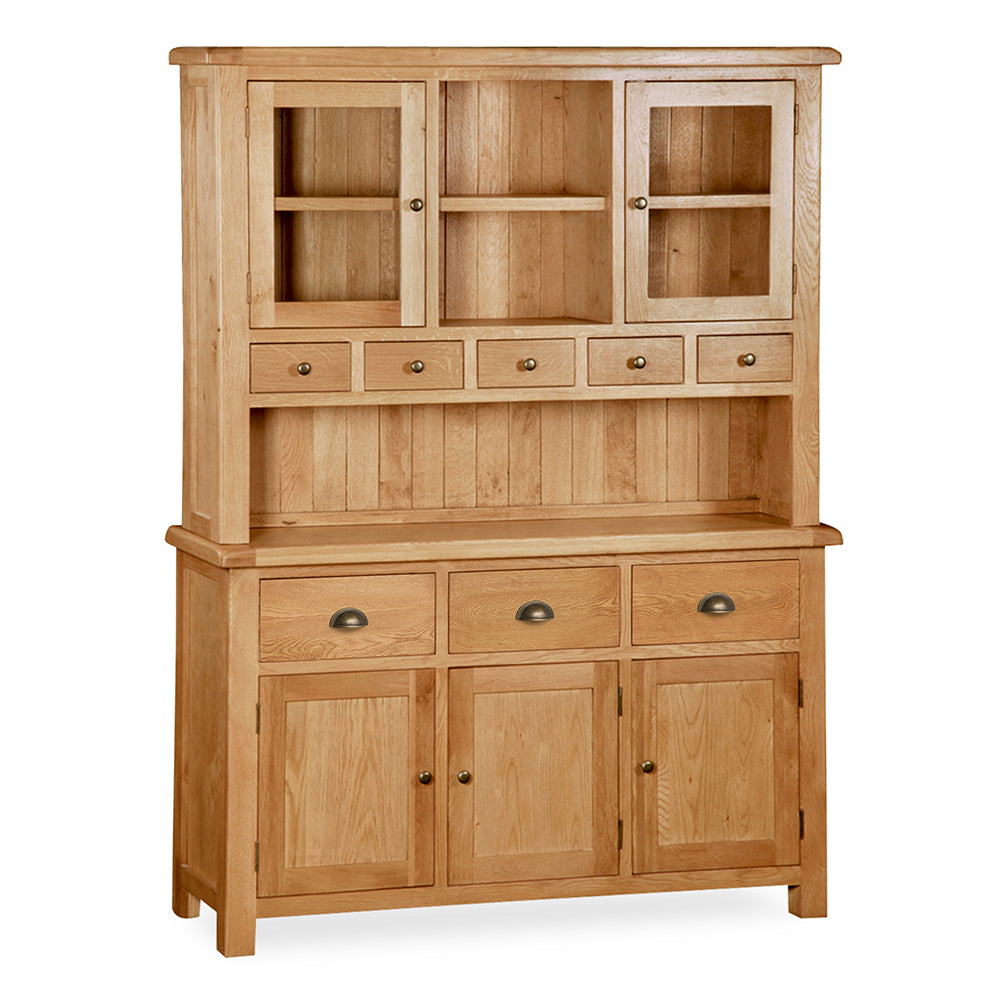 Sidmouth Oak Large Dresser by Roseland Furniture
