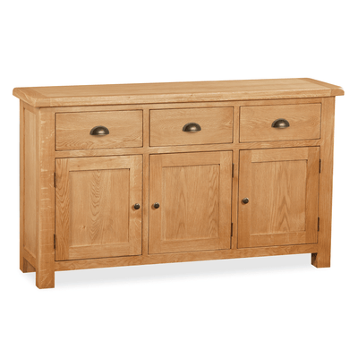 Sidmouth Oak Large Sideboard by Roseland Furniture
