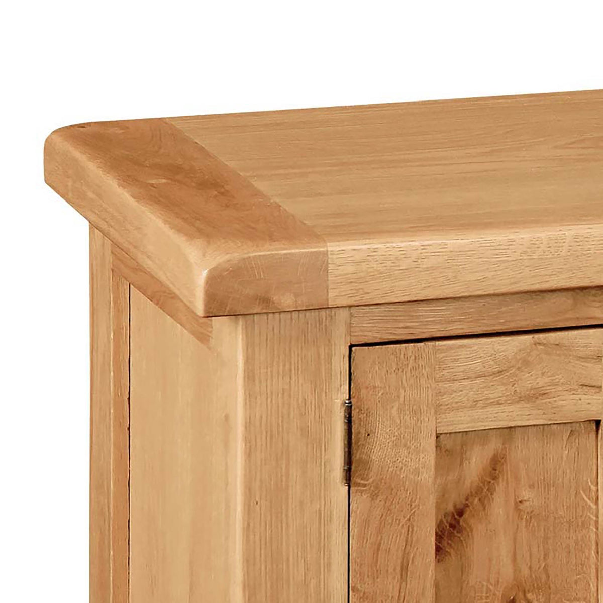 Sidmouth Oak 120cm TV Stand - Close Up of Oak Top of TV Stand