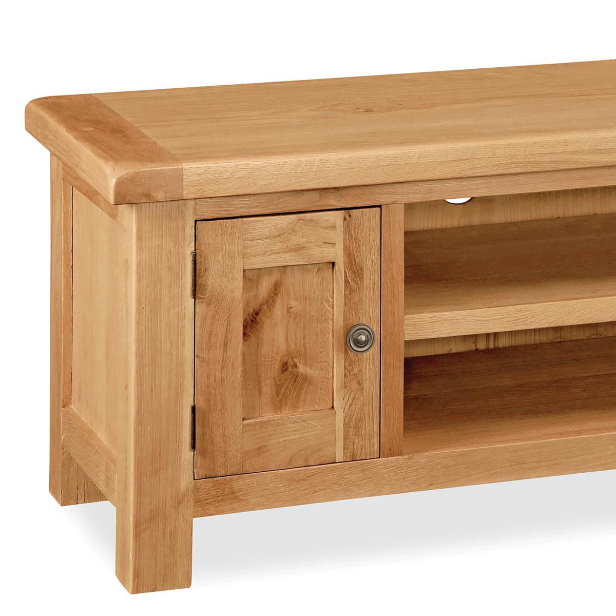 Sidmouth Oak 120cm TV Stand - Close Up of Cupboard