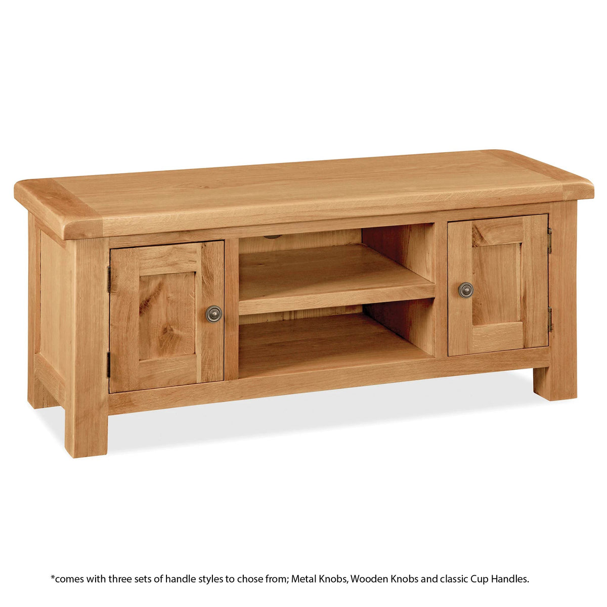 Sidmouth Oak 120cm TV Stand - Information on handles
