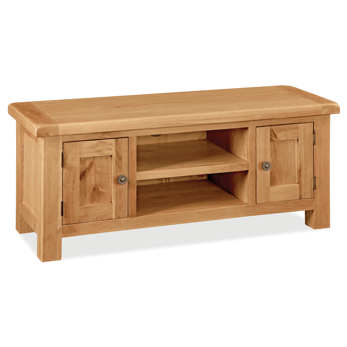 Sidmouth Oak 120cm TV Stand by Roseland Furniture