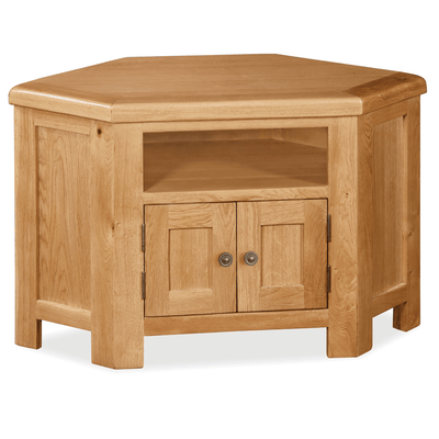 Sidmouth Oak Corner TV Stand by Roseland Furniture