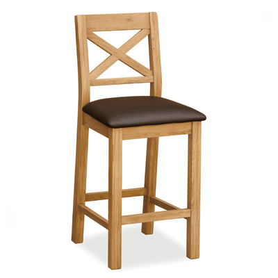 Sidmouth Oak Bar Stool by Roseland Furniture