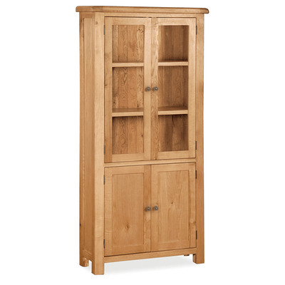 Sidmouth Oak Display Cabinet by Roseland Furniture