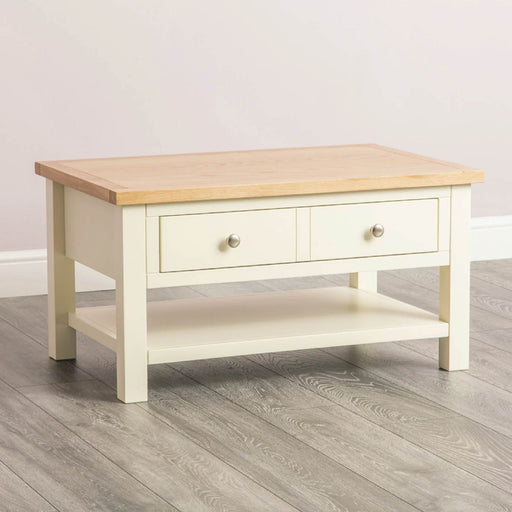 Farrow Cream coffee table unit by Roseland Furniture