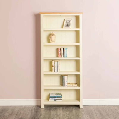 Farrow Cream Large Bookcase - Lifestyle