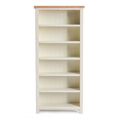 Farrow Cream Large Bookcase by Roseland Furniture
