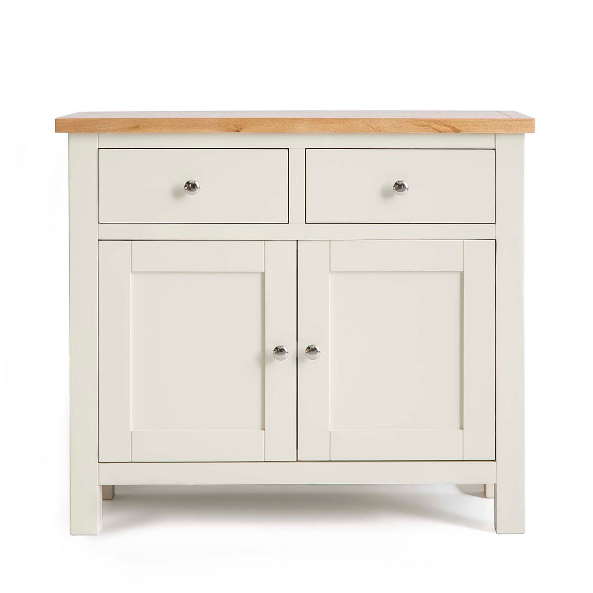 Farrow Cream 2 cupboard 2 drawer small sideboard unit by Roseland Furniture