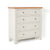 Farrow Cream 2 over 3 drawer chest of Drawers - Side view